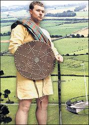 Középkori skót harcos