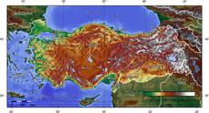 Törökország topográfiai térképe