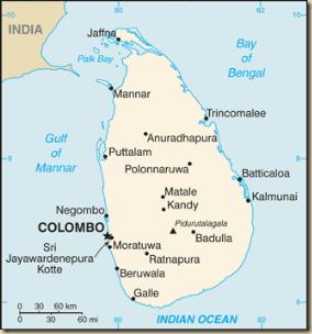 Srí Lanka_map