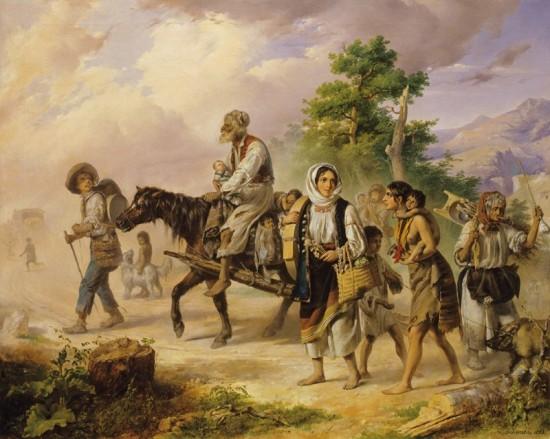 Barabás Miklós: Egy utazó cigány család Erdélyben