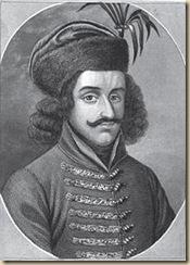 Szilágyi Mihály gróf arcképe, acélmetszet (1430 körül)