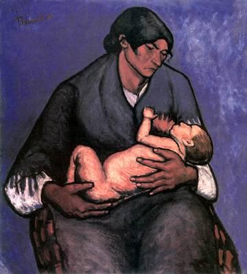 Tihanyi Lajos: Cigányasszony gyermekkel