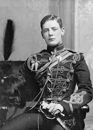 Churchill in military uniform, 1895