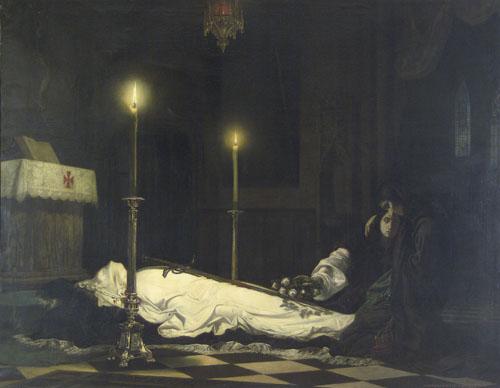 Madarász Viktor: Hunyadi László siratása, 1859. Magyar Nemzeti Galéria