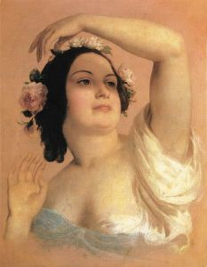 Brocky,_Karoly_-_Bust_of_a_Young_Woman,_Summer_(1846-50)