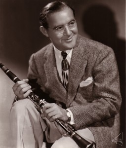 Benny Goodman poses for a studio portrait in 1939. (Photo by Gilles Petard/Redferns)