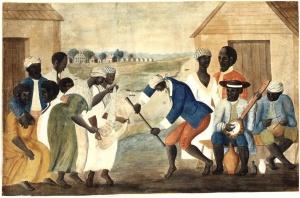 Slave_dance_to_banjo,_1780s