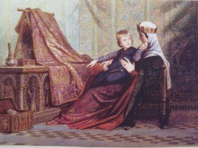Szekely-bertalan-gizella-kiralyne-imre-herceggel-1873