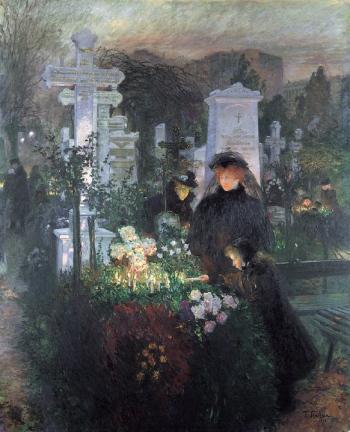 Franz_Skarbina_Allerseelentag_(Hedwigskirchhof)_1896