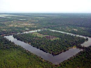 Angkor Vat madártávlatból