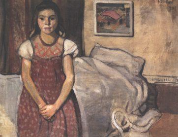 Czóbel Béla: Kislány ág előtt