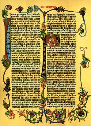 Gutemberg Biblia egy lapja