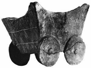 Kocsi alakú agyagedény