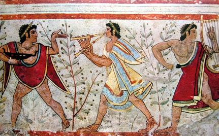 etruszk falfestmény
