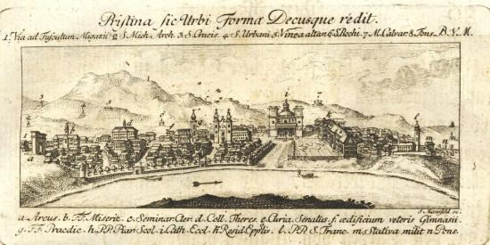 Vác látképe a 18. században