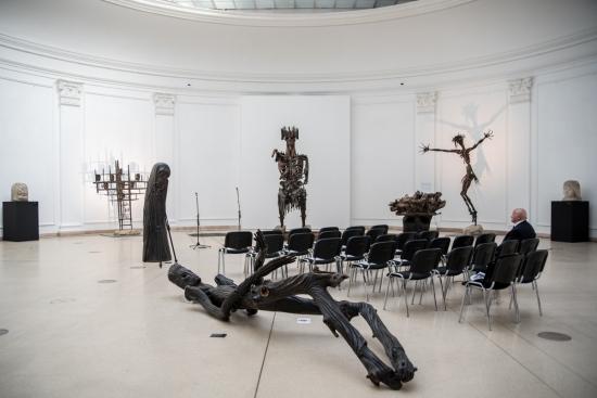 Szervátiusz Jenő és fia, Szervátiusz Tibor szobrászművészete a Műcsarnokban