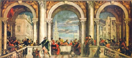 Paolo Veronese: Lakoma Lévi házában, 1573