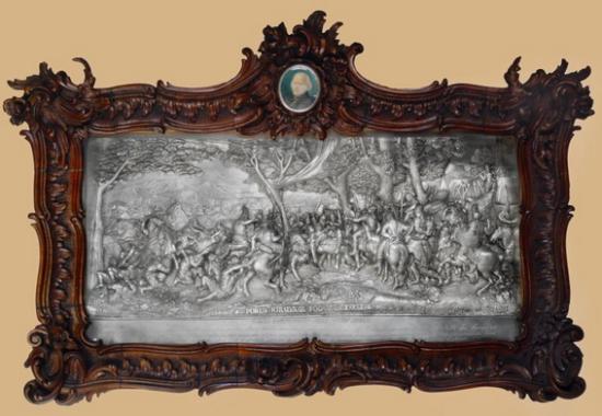 Szentpéteri József: Porus király fogságba esése, 1851.