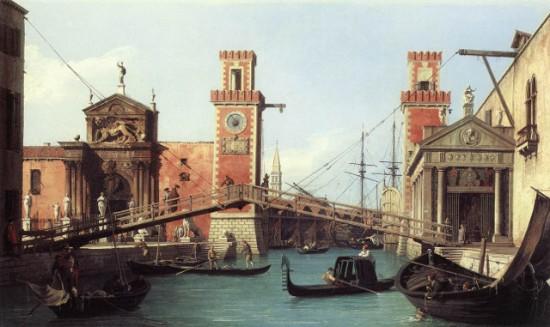Az Arzenál bejárata, Canaletto, 1732