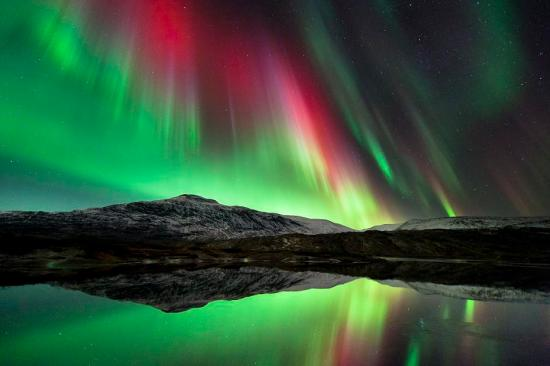 Aurora Borealis, The Northers Lights Over Norway