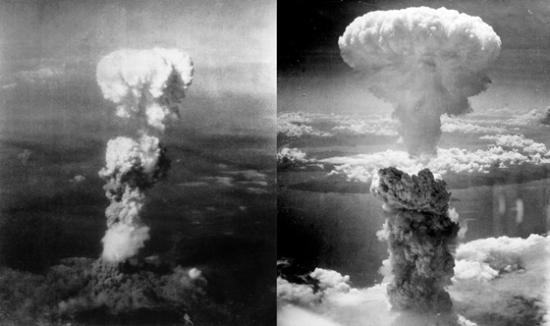 Gombafelhő Hirosima és Nagasaki felett