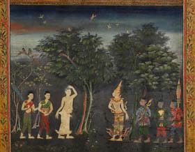 Hódolat a huszonnyolc buddha előtt