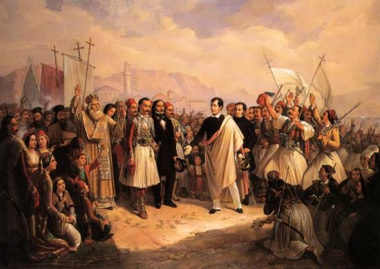 Lord Byron at Missolonghi