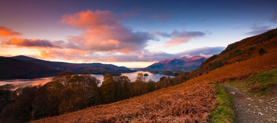 Sunset, Derwent Water, Lake District