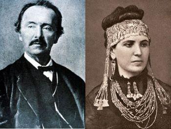 Henrich and Sophia schliemann