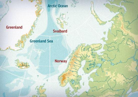Svaldbard map