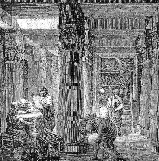 Az ókori Alexandriai könyvtár