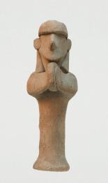 Kézidobon játszó alak szobrocskája