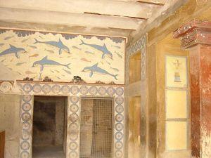 Delfines freskók a királynő szállásáról
