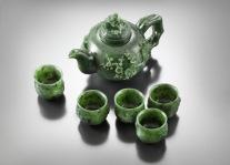 Koreai jade teáskészlet