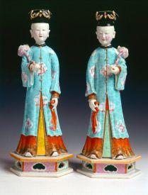 porcelan figures, qing dinasty
