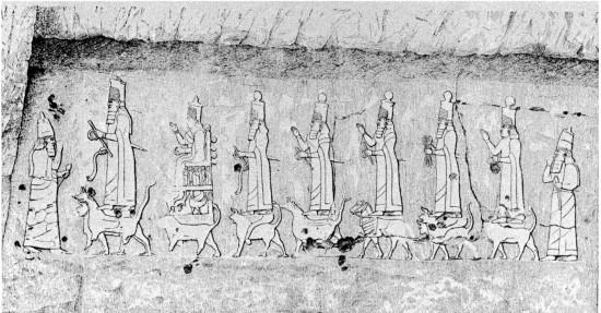 asszír szikladombormű