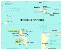 Seychelle-térkép