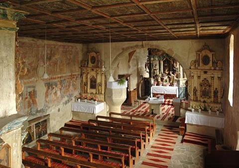 Gelencei templombelső