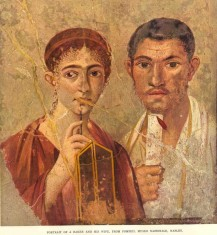 Portrait a Baker and his Wife from Pompeii