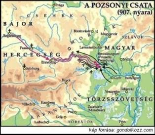 Pozsonyi csata térkép
