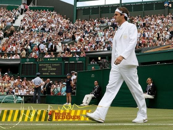 Federer a pályán