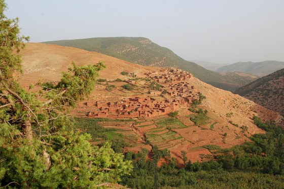 Berber falu Marokkóban. a Magas-Atlaszban