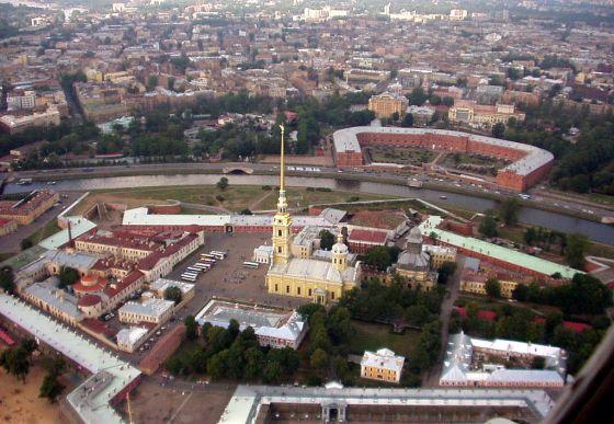 A Péter-Pál székesegyház a Péter-Pál erődben