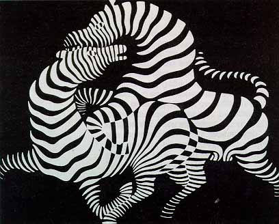 Vasarely: Zebrák