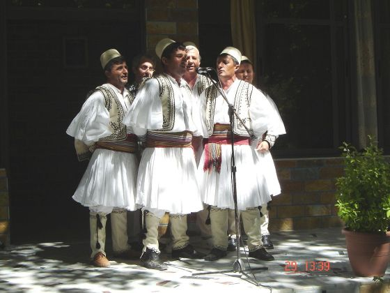A traditional male grop from Albania