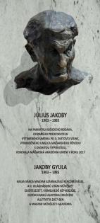 Jakoby Gyula emléktábla