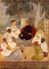 India 16th century Mughal miniature