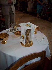 a szentmise áldozat bemutatásának eszközei