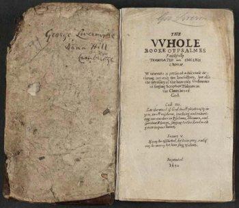 Booke of Psalmes, in 1640
