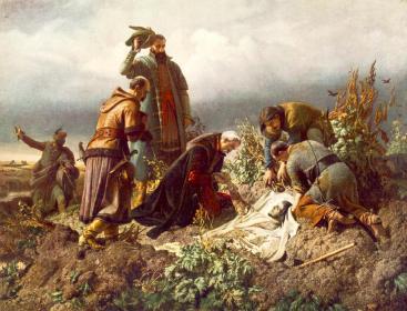 Székely Bertalan: II. Lajos holttestének megtalálása 1860